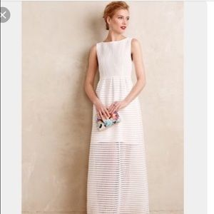 Anthropologie Leifsdottir White Maxi Dress 00P